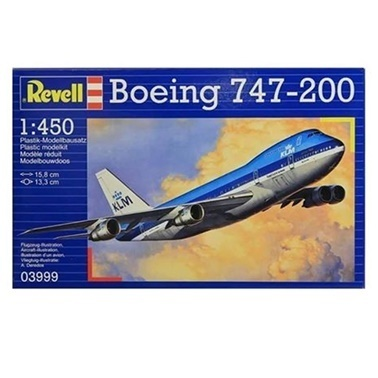 Revell Revell Maket 1:450 Boeing 747-200 Renkli